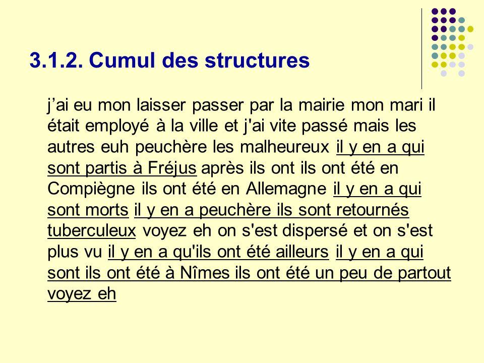 3.1.2. Cumul des structures