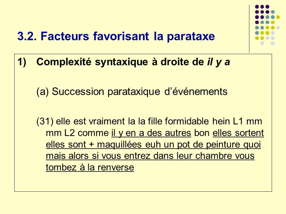 3.2. Facteurs favorisant la parataxe