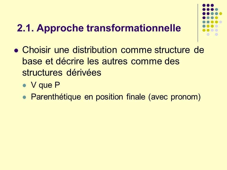 2.1. Approche transformationnelle