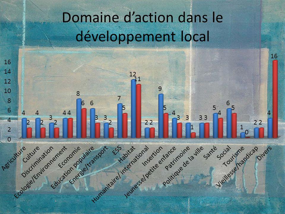 Domaine d'action dans le développement local