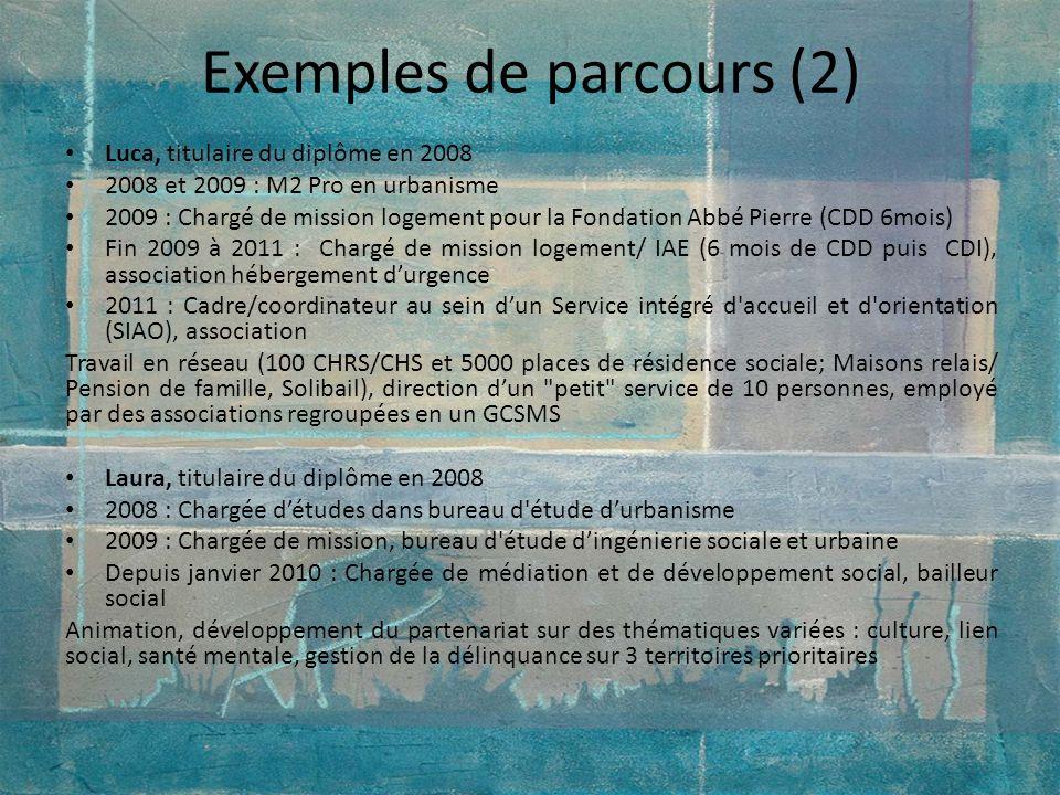 Exemples de parcours (2)