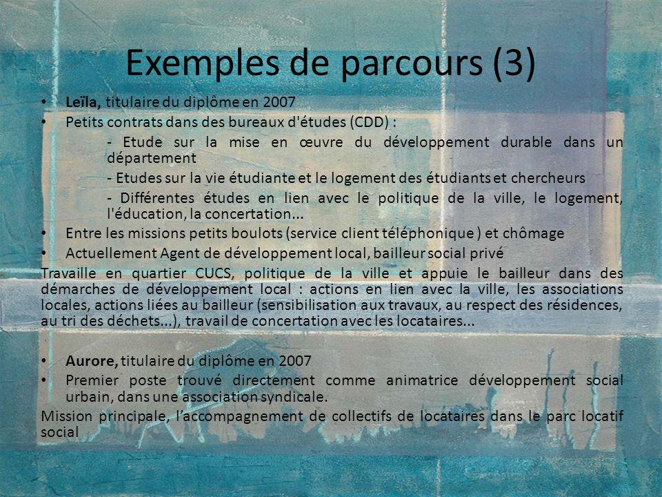 Exemples de parcours (3)