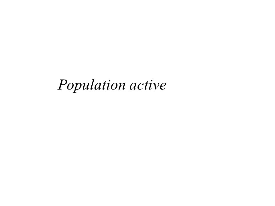Morphologie sociale Population active