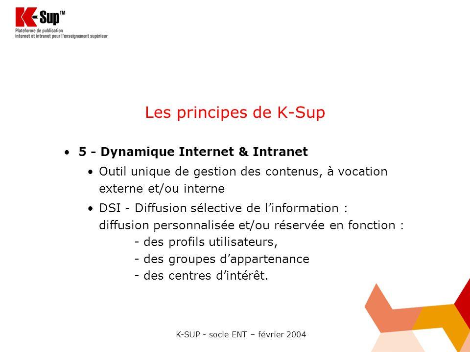 K-SUP - socle ENT – février 2004