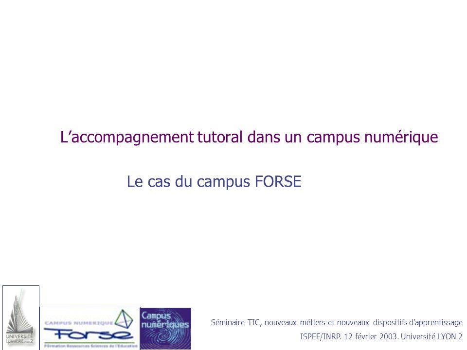 L'accompagnement tutoral dans un campus numérique