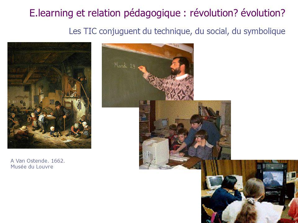 E.learning et relation pédagogique : révolution évolution