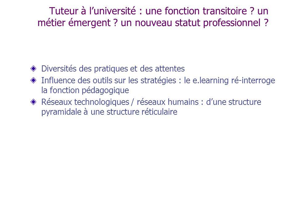 Tuteur à l'université : une fonction transitoire. un métier émergent
