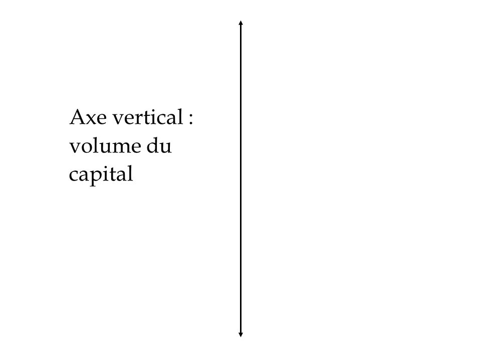 Axe vertical : volume du capital