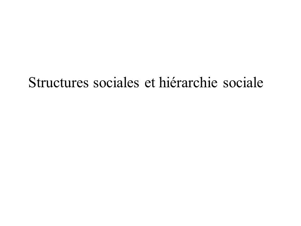 Structures sociales et hiérarchie sociale