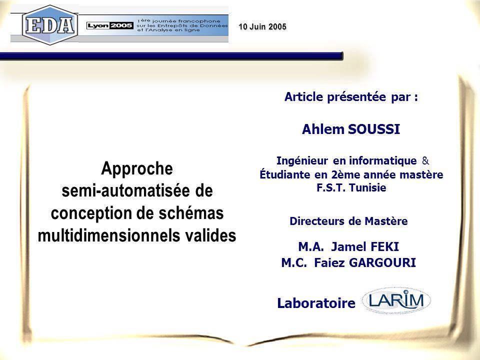 Article présentée par : Étudiante en 2ème année mastère F.S.T. Tunisie