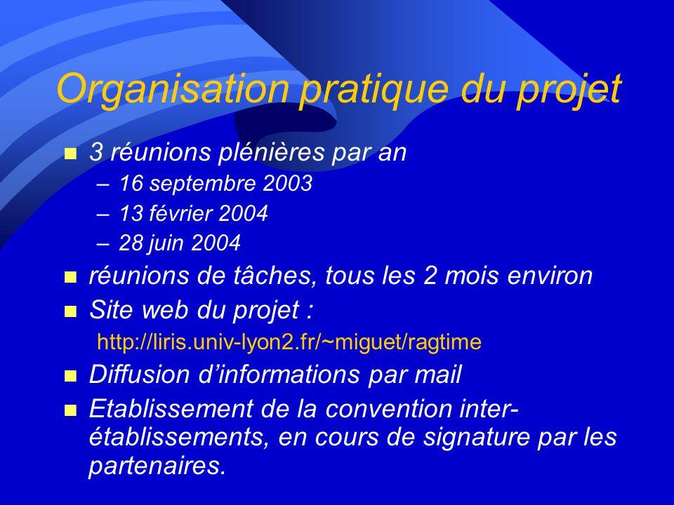 Organisation pratique du projet