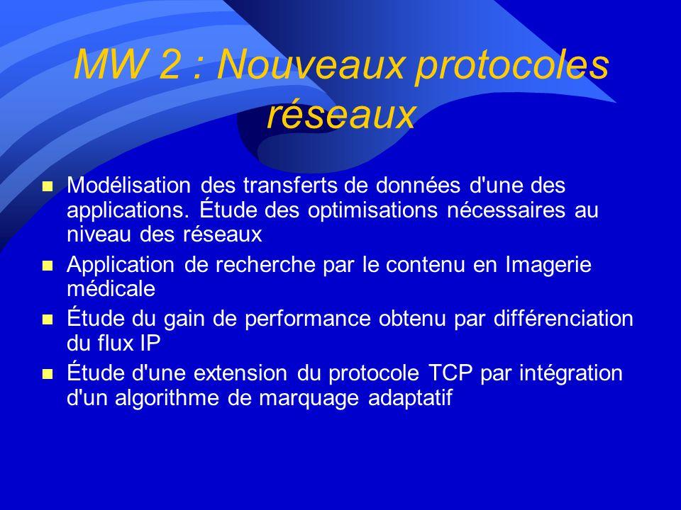 MW 2 : Nouveaux protocoles réseaux