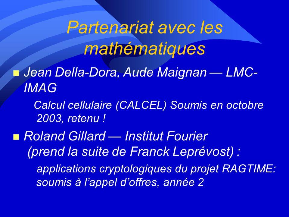 Partenariat avec les mathématiques