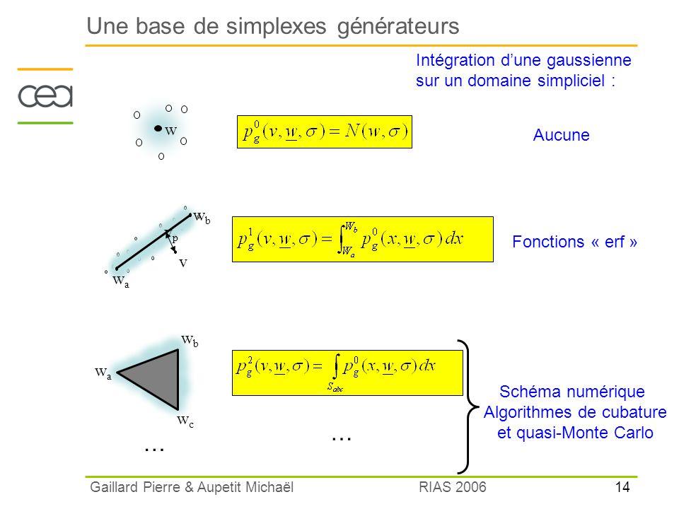 Une base de simplexes générateurs