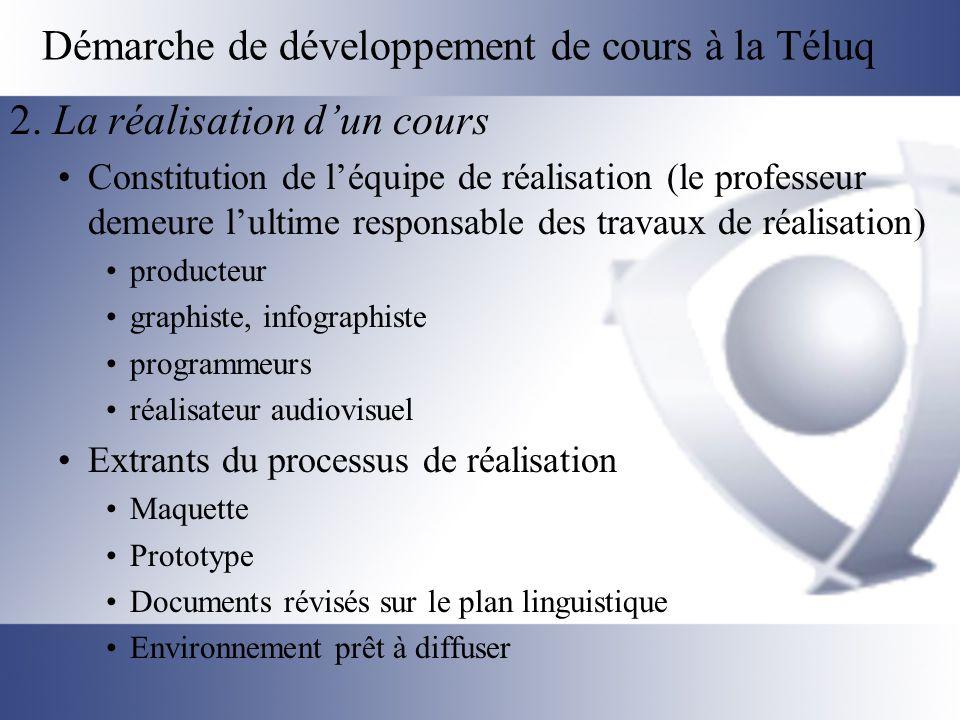 Démarche de développement de cours à la Téluq