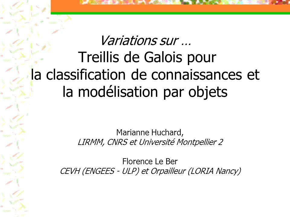 Variations sur … Treillis de Galois pour la classification de connaissances et la modélisation par objets