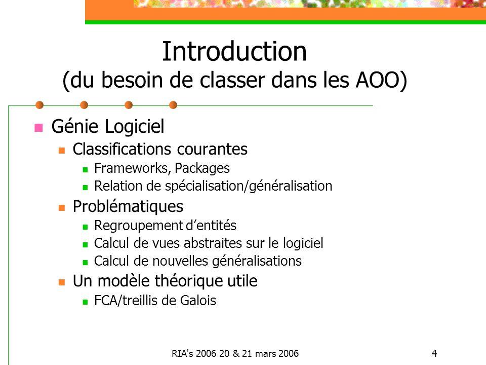 Introduction (du besoin de classer dans les AOO)
