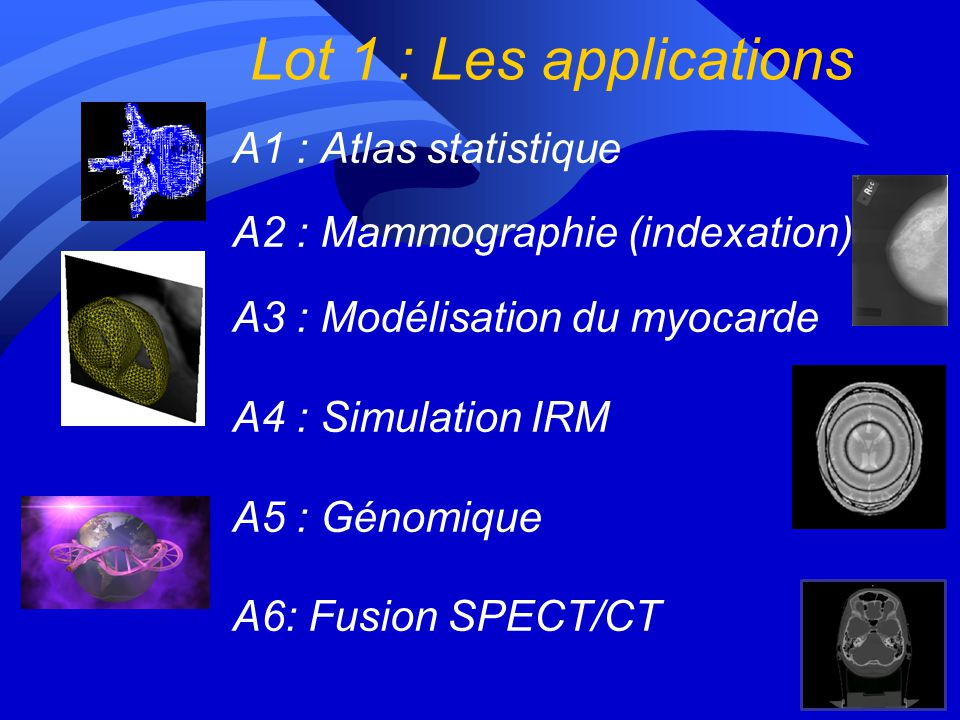 Lot 1 : Les applications A1 : Atlas statistique
