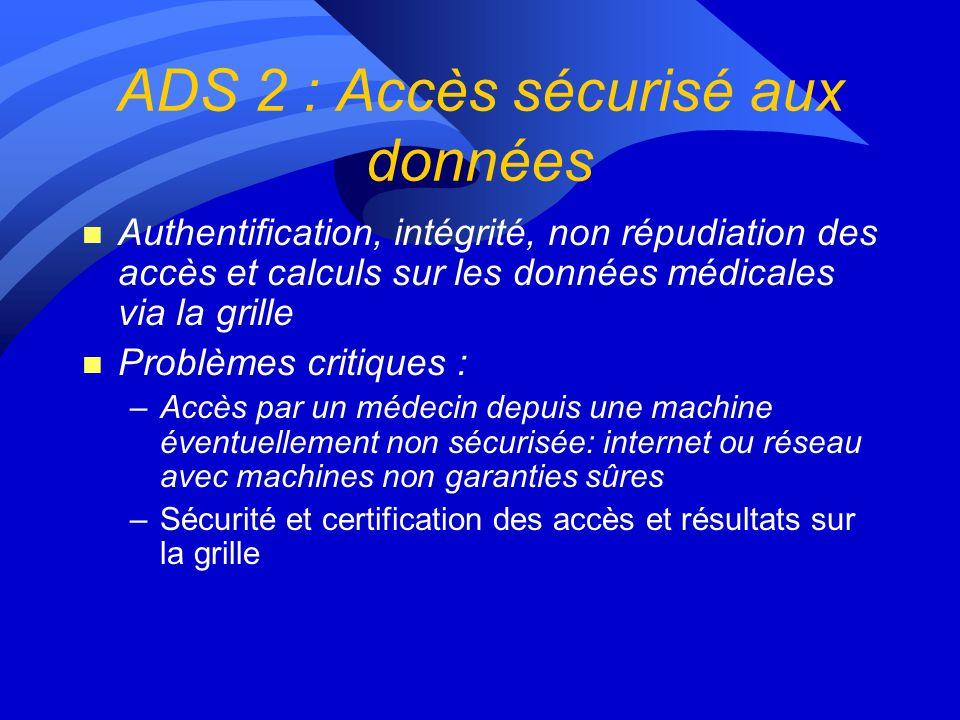 ADS 2 : Accès sécurisé aux données