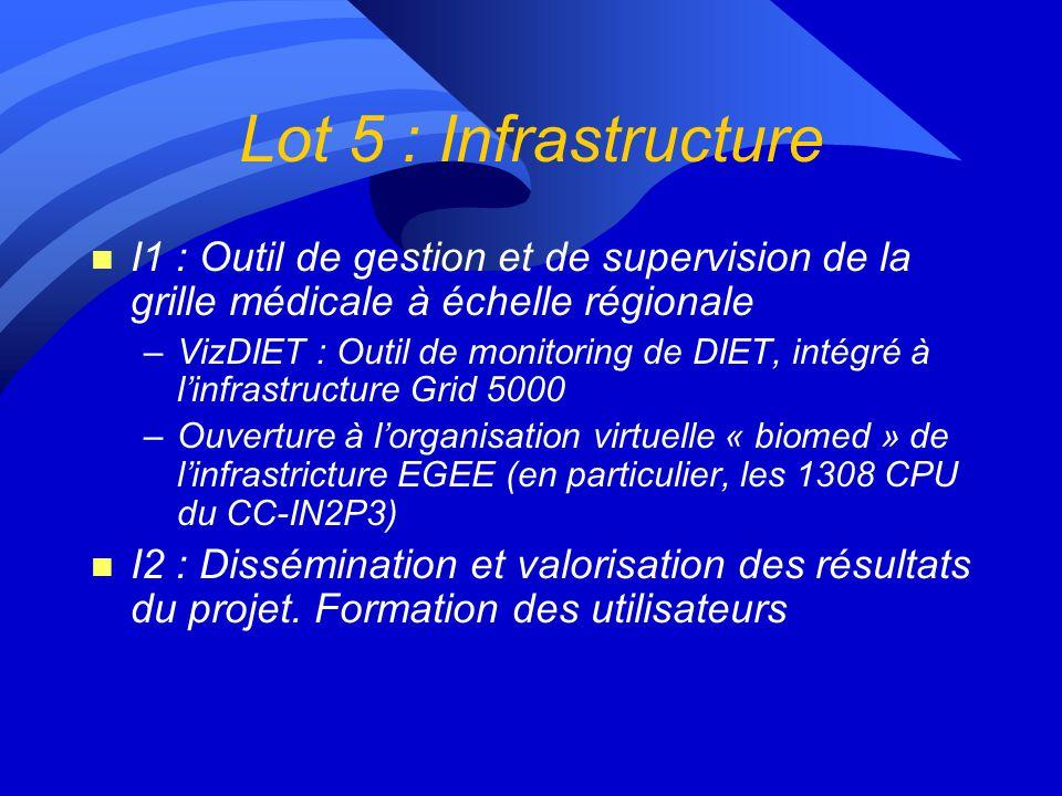 Lot 5 : Infrastructure I1 : Outil de gestion et de supervision de la grille médicale à échelle régionale.
