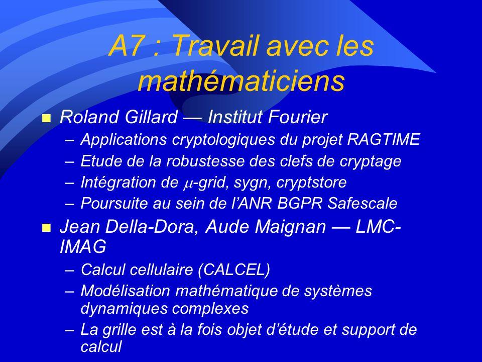A7 : Travail avec les mathématiciens