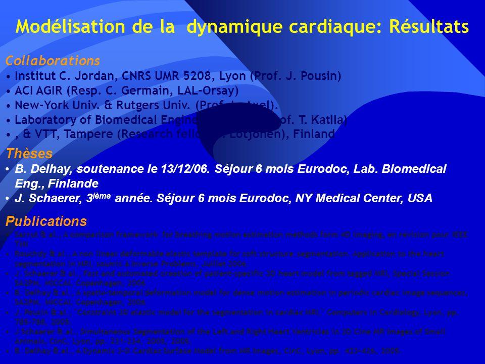 Modélisation de la dynamique cardiaque: Résultats