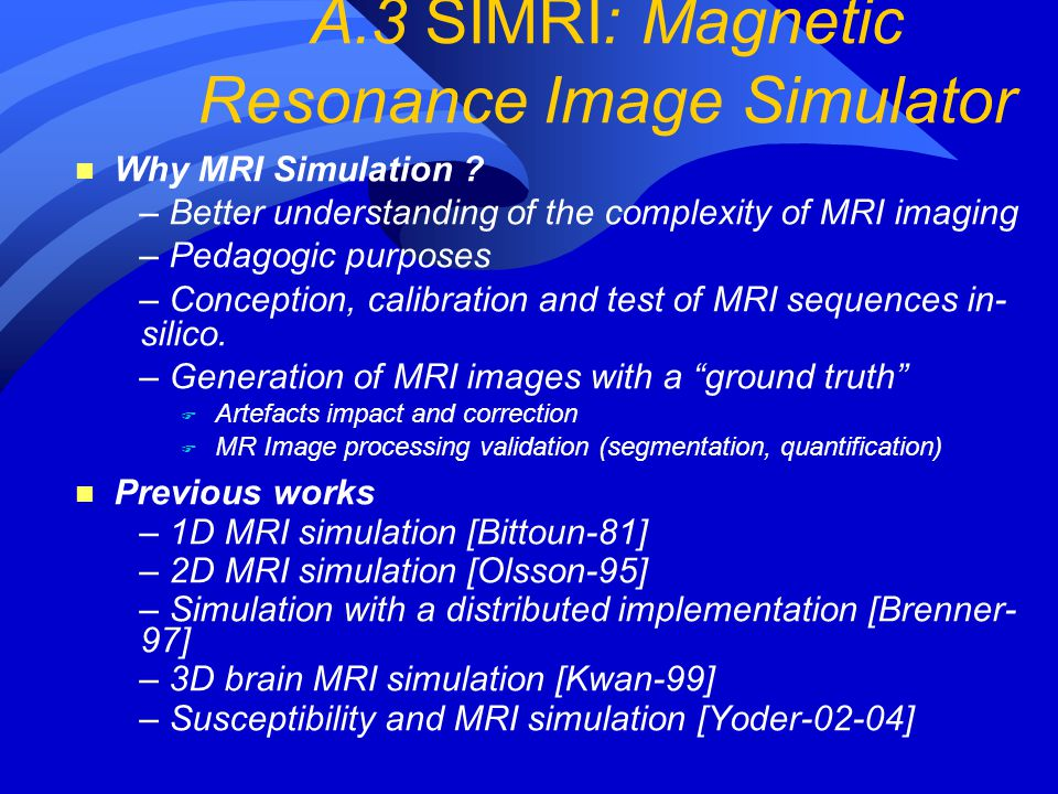 A.3 SIMRI: Magnetic Resonance Image Simulator