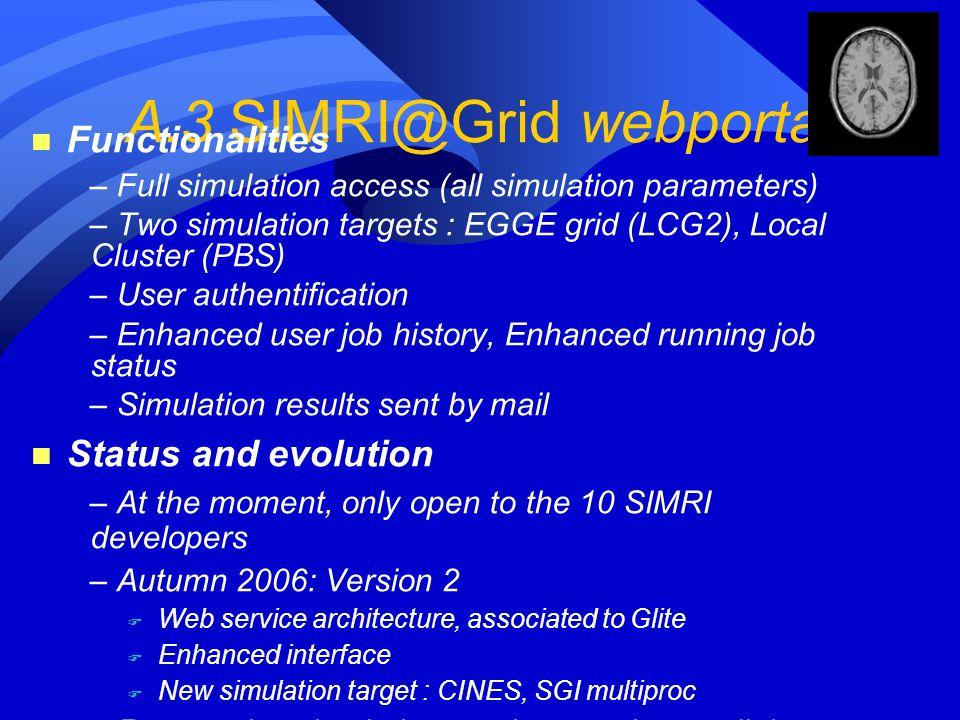 A.3 SIMRI@Grid webportal
