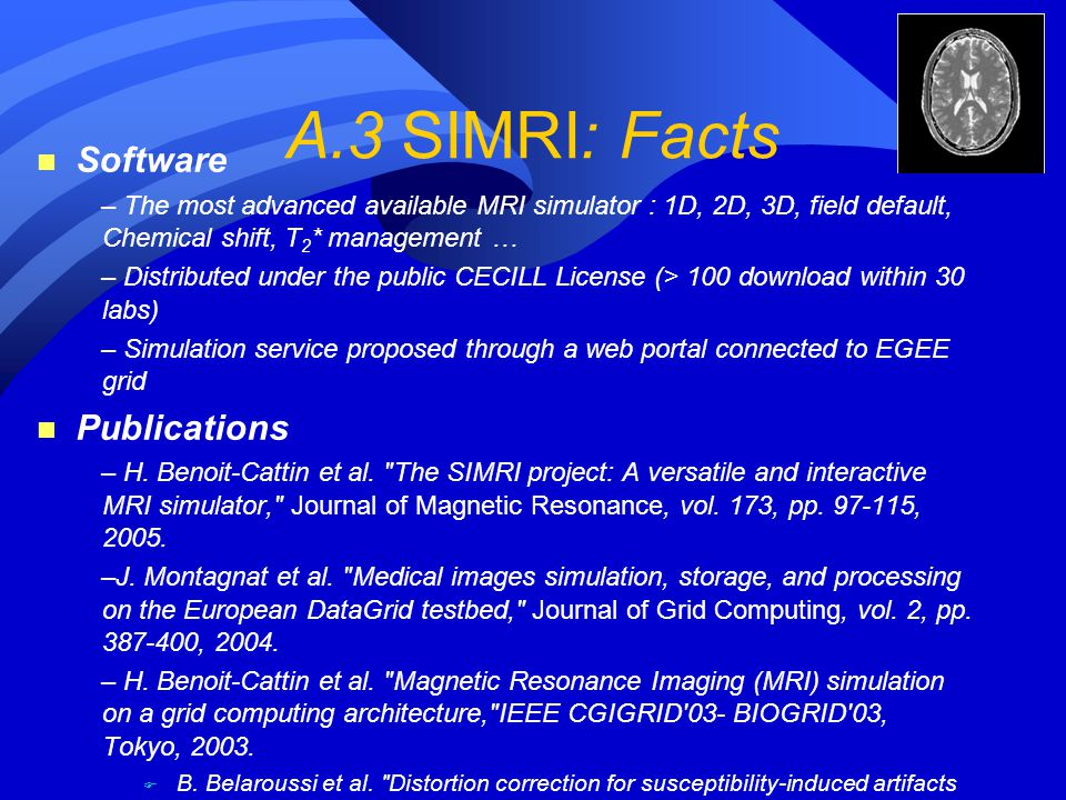 A.3 SIMRI: Facts Software Publications