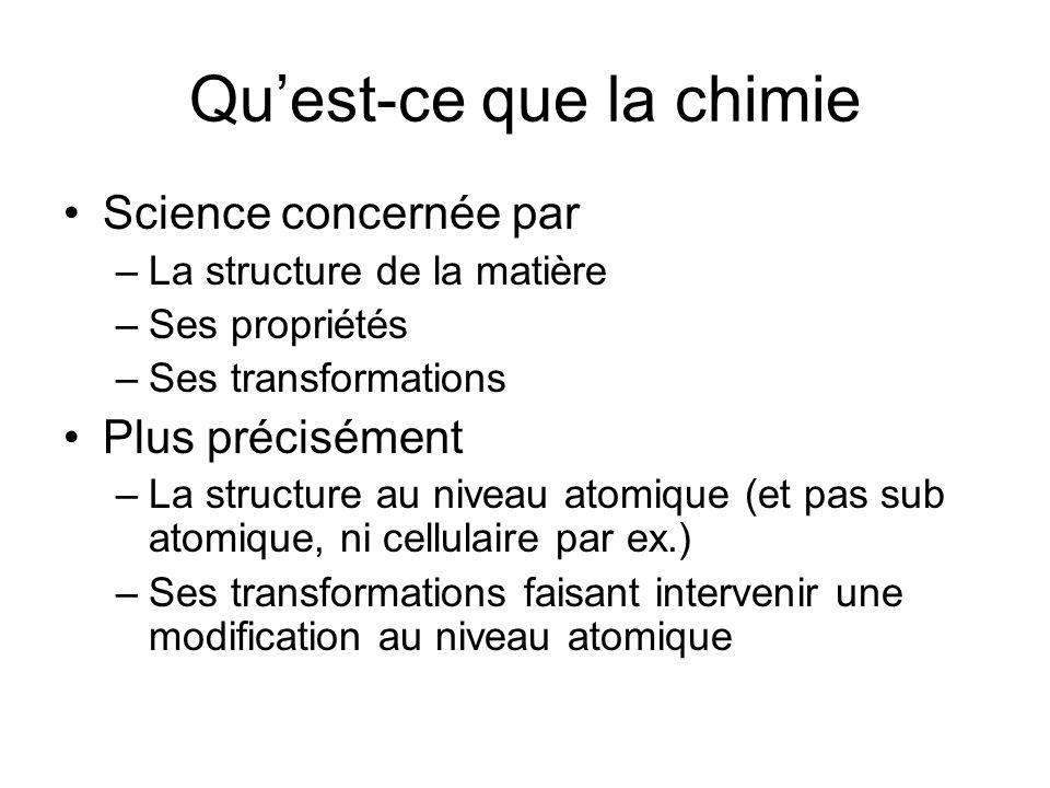 Qu'est-ce que la chimie