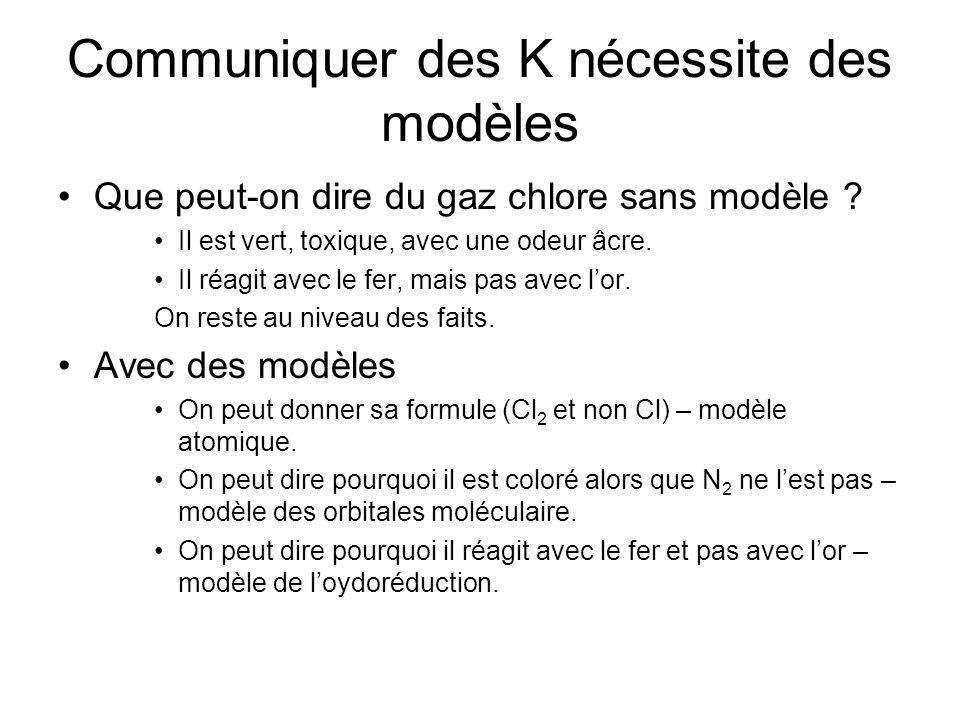 Communiquer des K nécessite des modèles