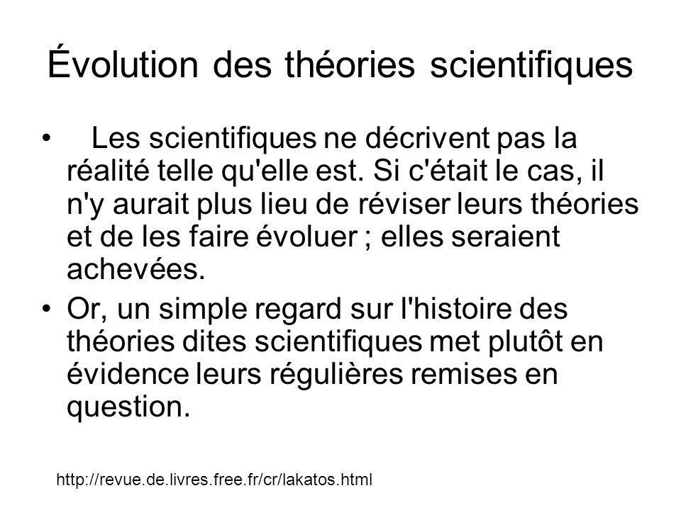 Évolution des théories scientifiques