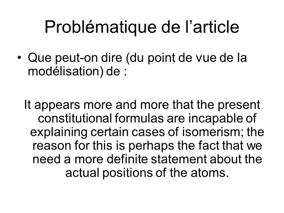 Problématique de l'article