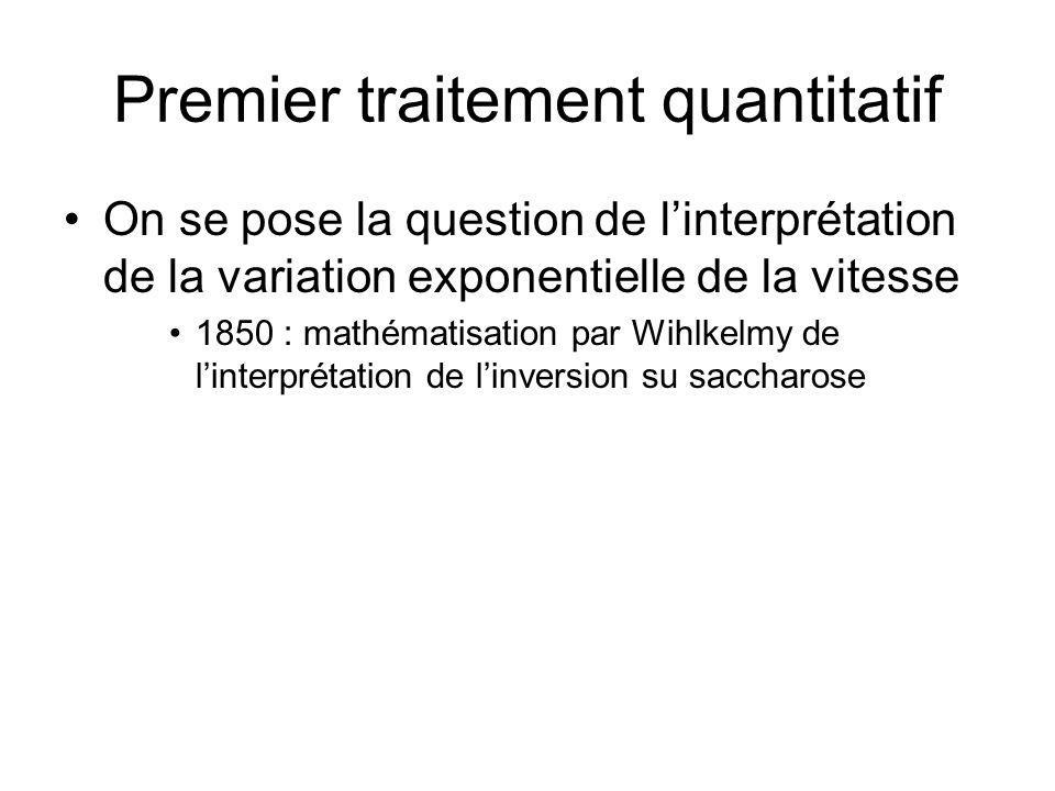 Premier traitement quantitatif