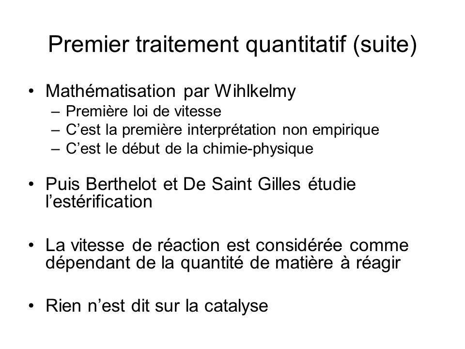 Premier traitement quantitatif (suite)