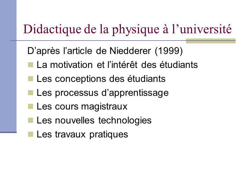Didactique de la physique à l'université