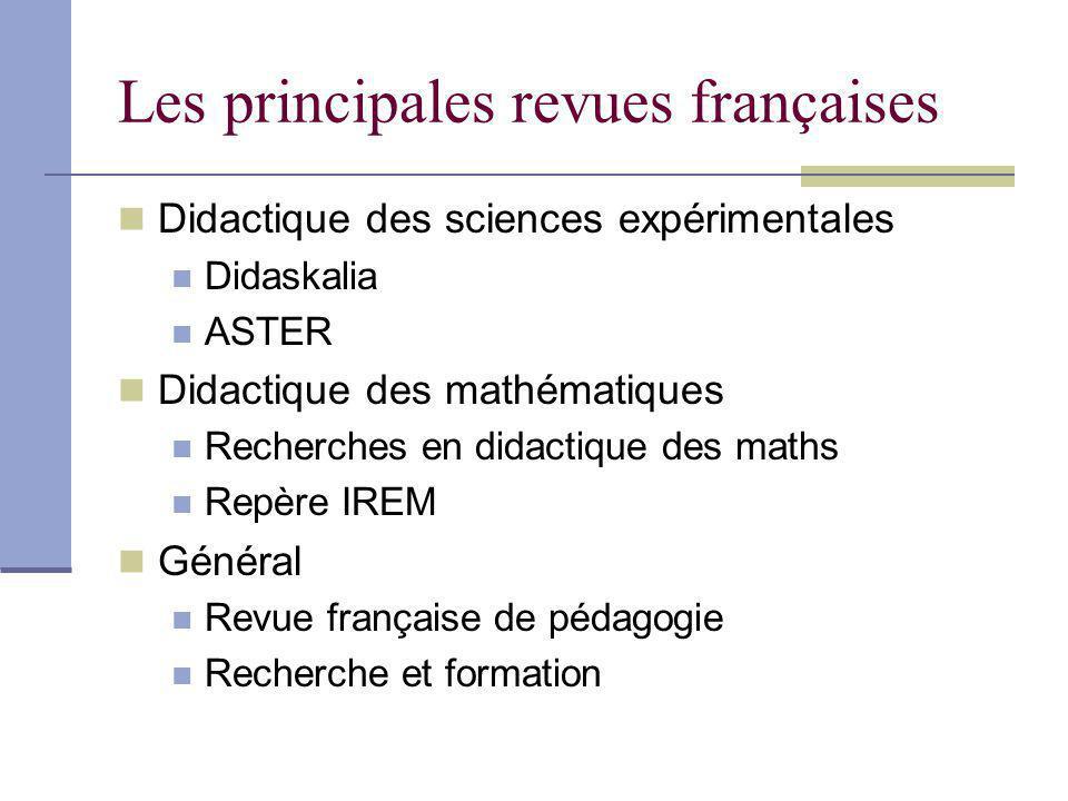 Les principales revues françaises