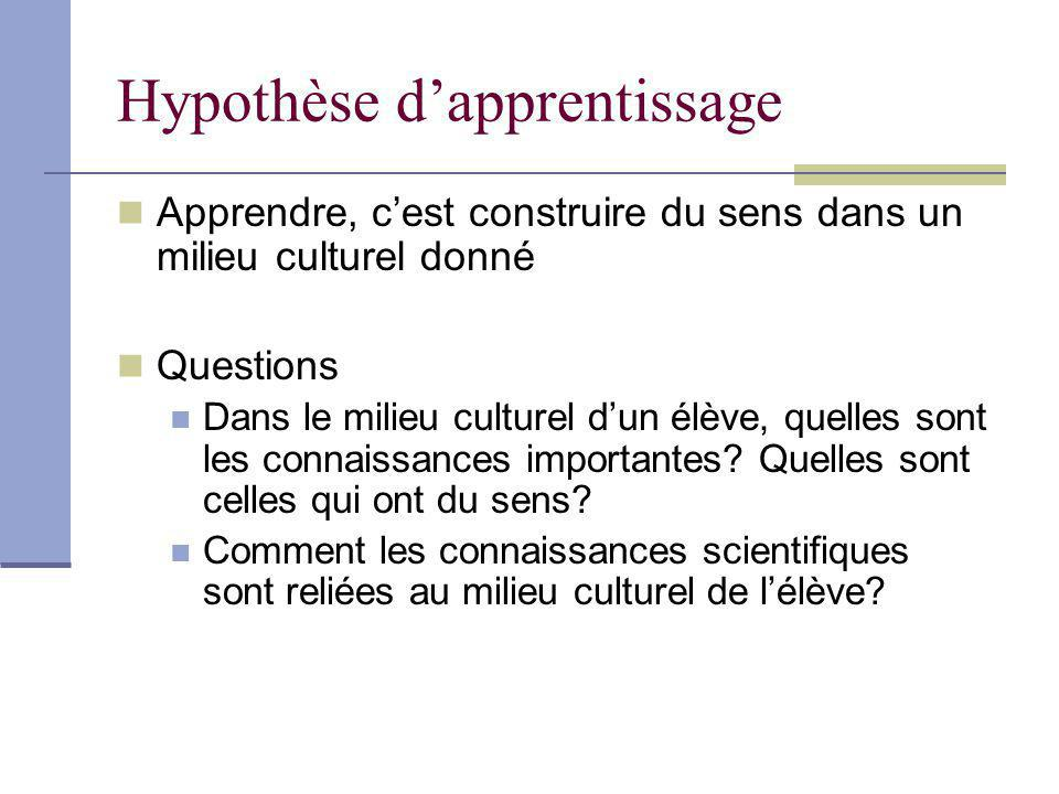 Hypothèse d'apprentissage