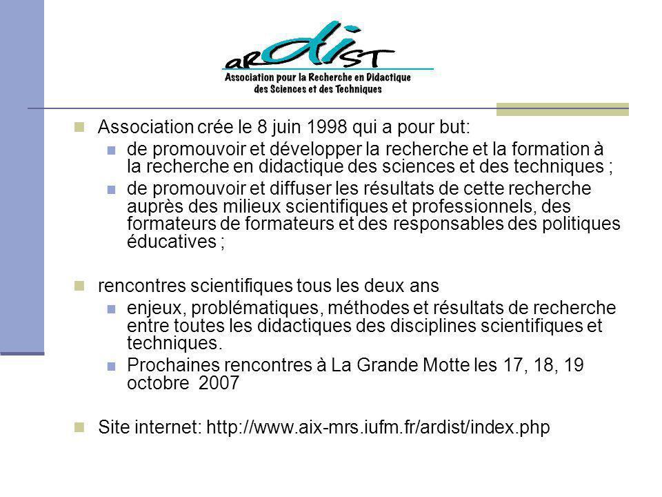 Association crée le 8 juin 1998 qui a pour but: