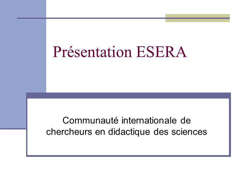 Communauté internationale de chercheurs en didactique des sciences