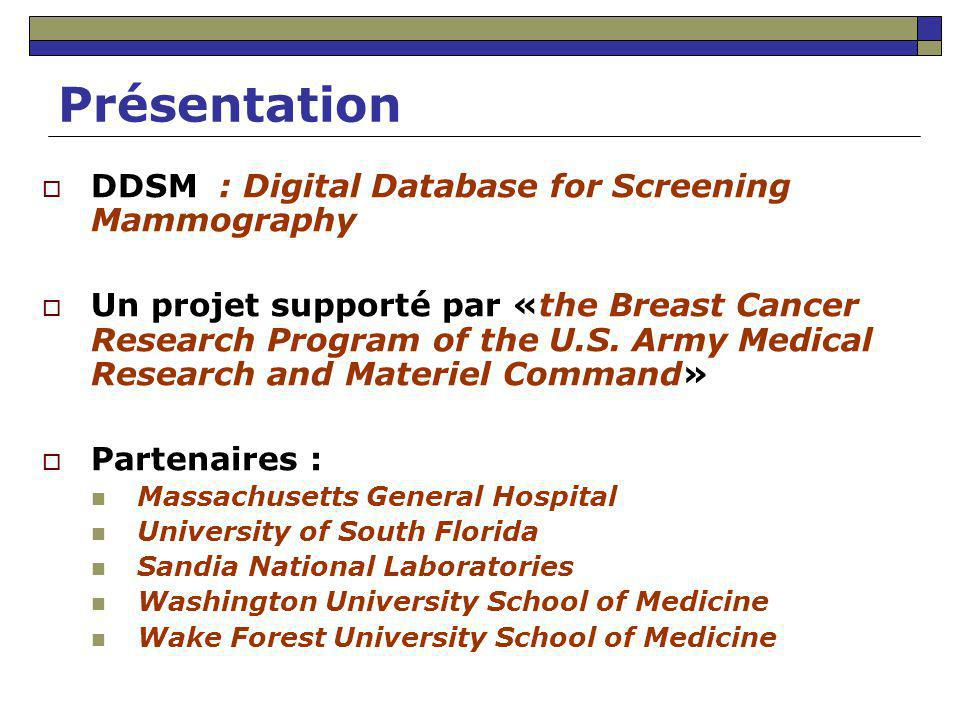 Présentation DDSM : Digital Database for Screening Mammography