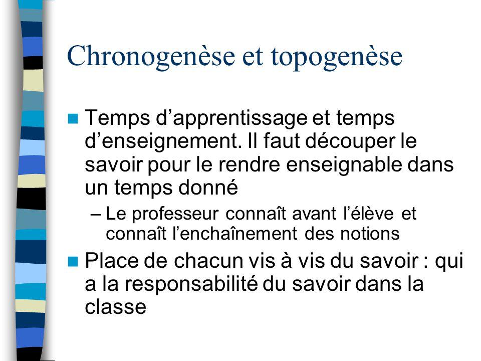 Chronogenèse et topogenèse