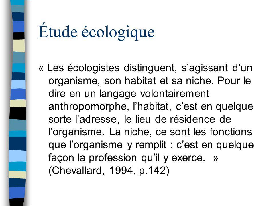 Étude écologique