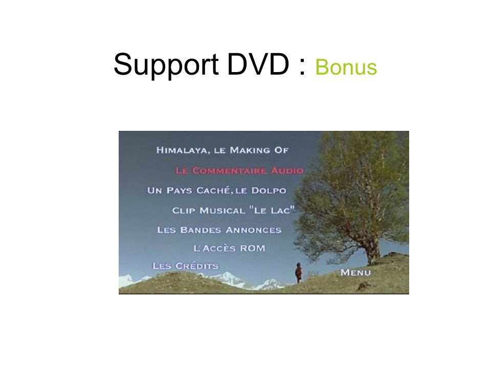 Support DVD : Bonus