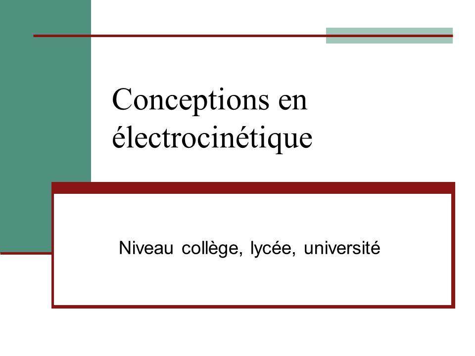 Conceptions en électrocinétique