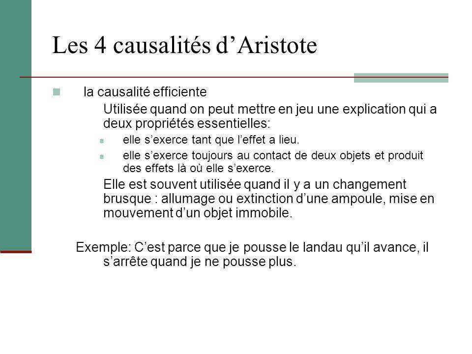 Les 4 causalités d'Aristote