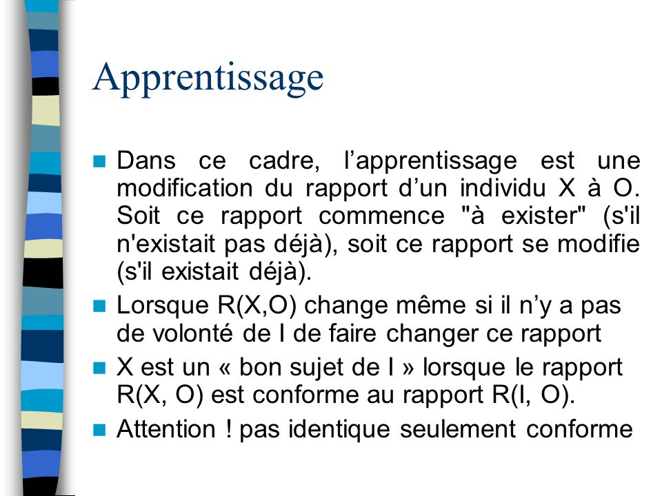 Apprentissage