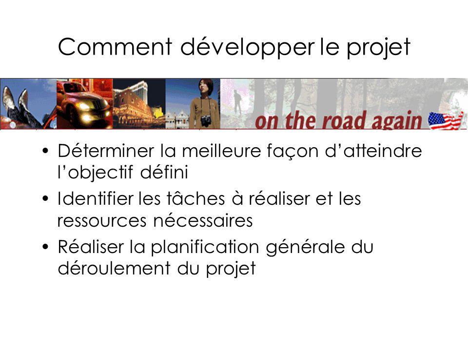 Comment développer le projet