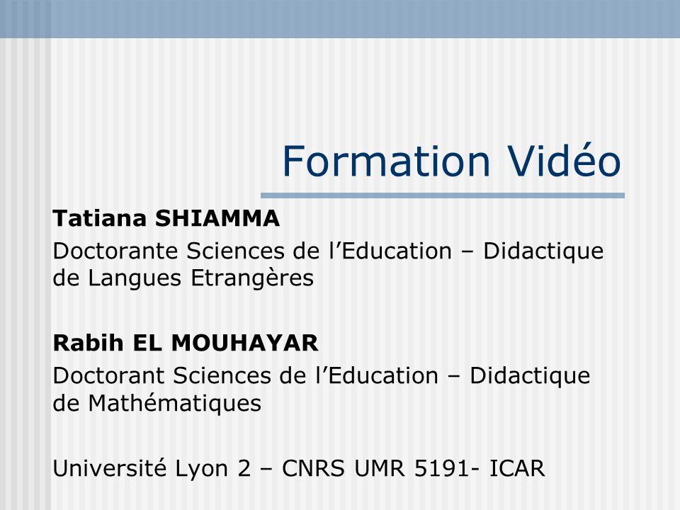 Formation Vidéo Tatiana SHIAMMA