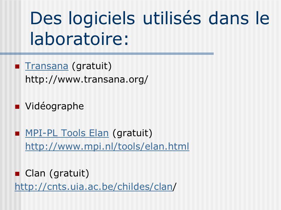 Des logiciels utilisés dans le laboratoire: